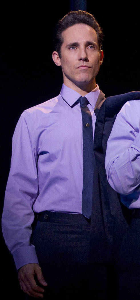 "Jeff Leibow in ""Jersey Boys."" (Joan Marcus/Courtesy) Jersey Boys Le Theatre Des Arts - Paris Hotel"