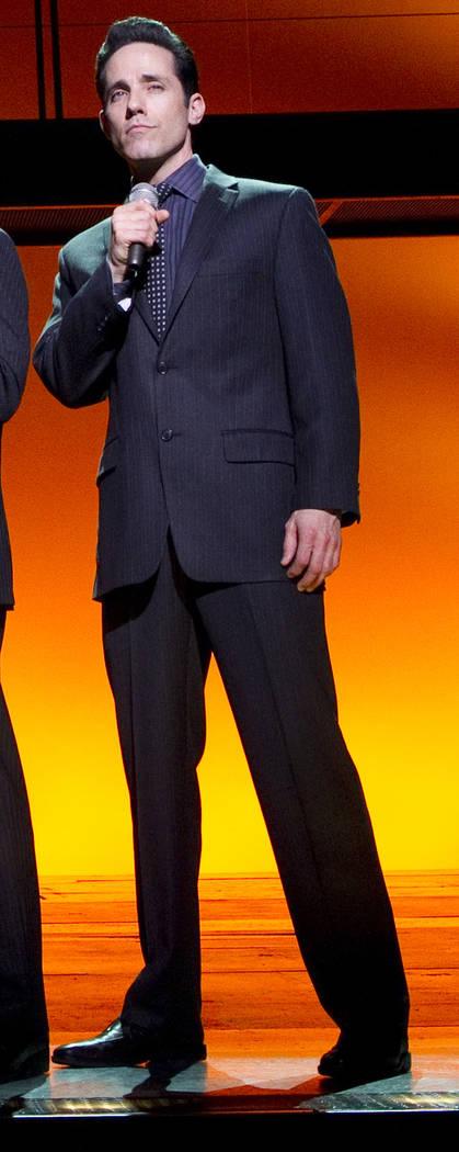 "Jeff Leibow in ""Jersey Boys."" (Joan Marcus/Courtesy) Le Theatre Des Arts - Paris Hotel"
