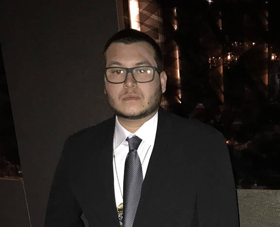 Jesus Campos, the Mandalay Bay security guard who first encountered mass shooter Stephen Paddock, is shown in an image provided by the International Union, Security, Police and Fire Professionals  ...