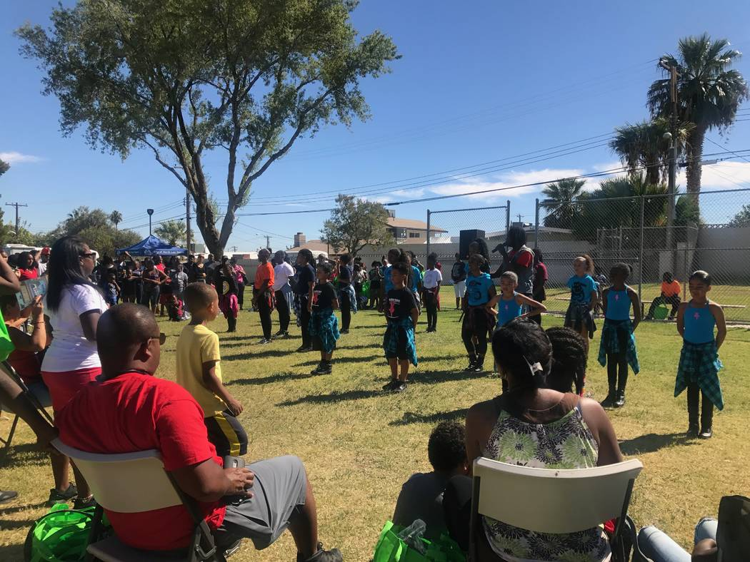 Reading Rainbow attendees watch a dance performance by Studio 305 on Oct. 7, 2017 at at Valley View Park, 2000 Bennett Street. (Kailyn Brown/View) @KailynHype