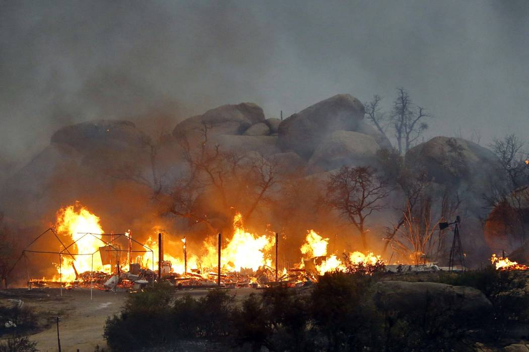 """In this June 30, 2013, file photo, the Yarnell Hill Fire burns in Glenn Ilah near Yarnell, Ariz. The movie, """"Only The Brave"""", that chronicles the 2013 Yarnell wildfire that killed 19 Arizona firef ..."""