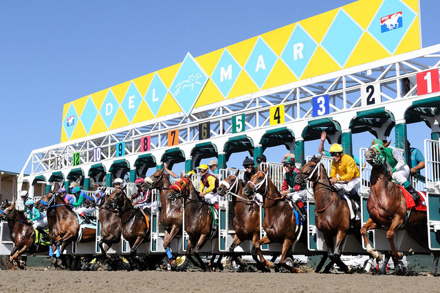 The start of a race at Del Mar. (Courtesy of Del Mar)