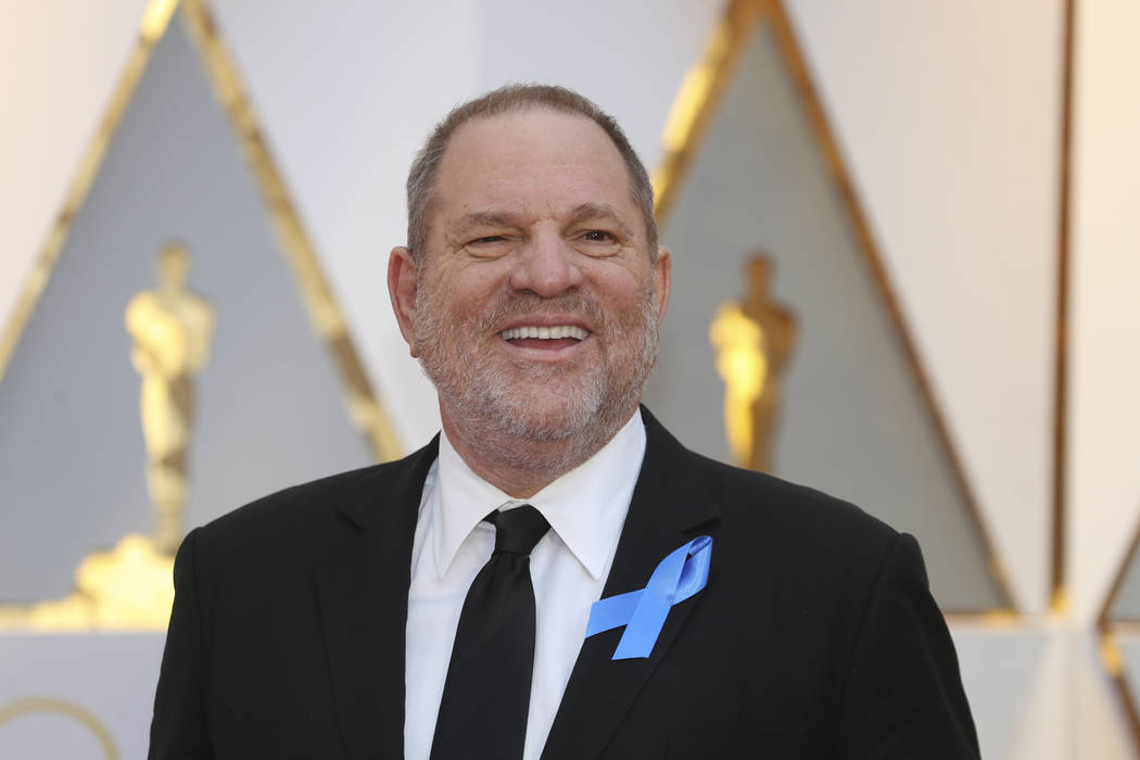Harvey Weinstein arrives on the red carpet Feb. 26, 2017, at the 89th Academy Awards in Hollywood, California. (Mike Blake/Reuters)