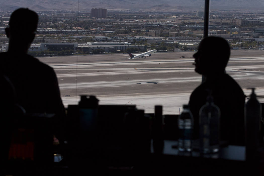 A view from the air traffic control tower at McCarran International Airport in Las Vegas. Erik Verduzco Las Vegas Review-Journal @Erik_Verduzco
