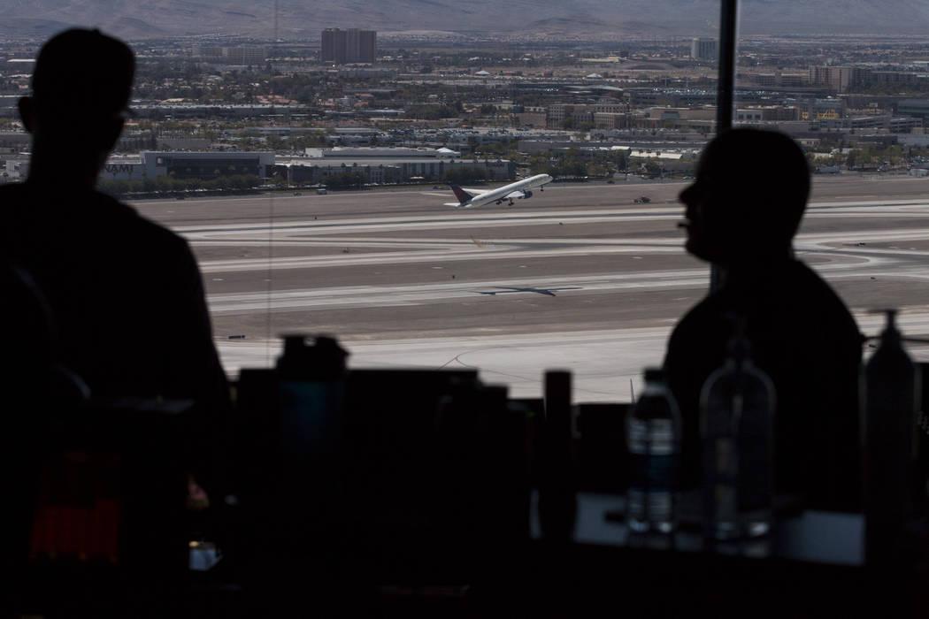 A view from the air traffic control tower at McCarran International Airport in Las Vegas. Erik Verduzco Las Vegas Review-Journal @Erik_Verduzco