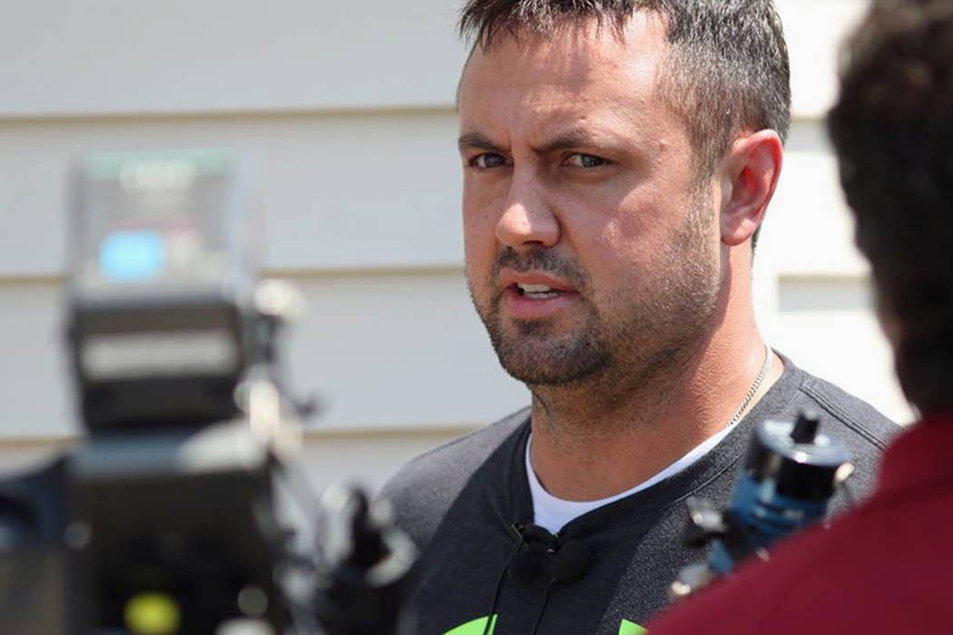 Brian Pyle, owner of Pyle Transportation Inc., the Iowa trucking company involved in a deadly case of immigrant smuggling in Texas, speaks to reporters July 24, 2017, in Schaller, Iowa. Federal sa ...