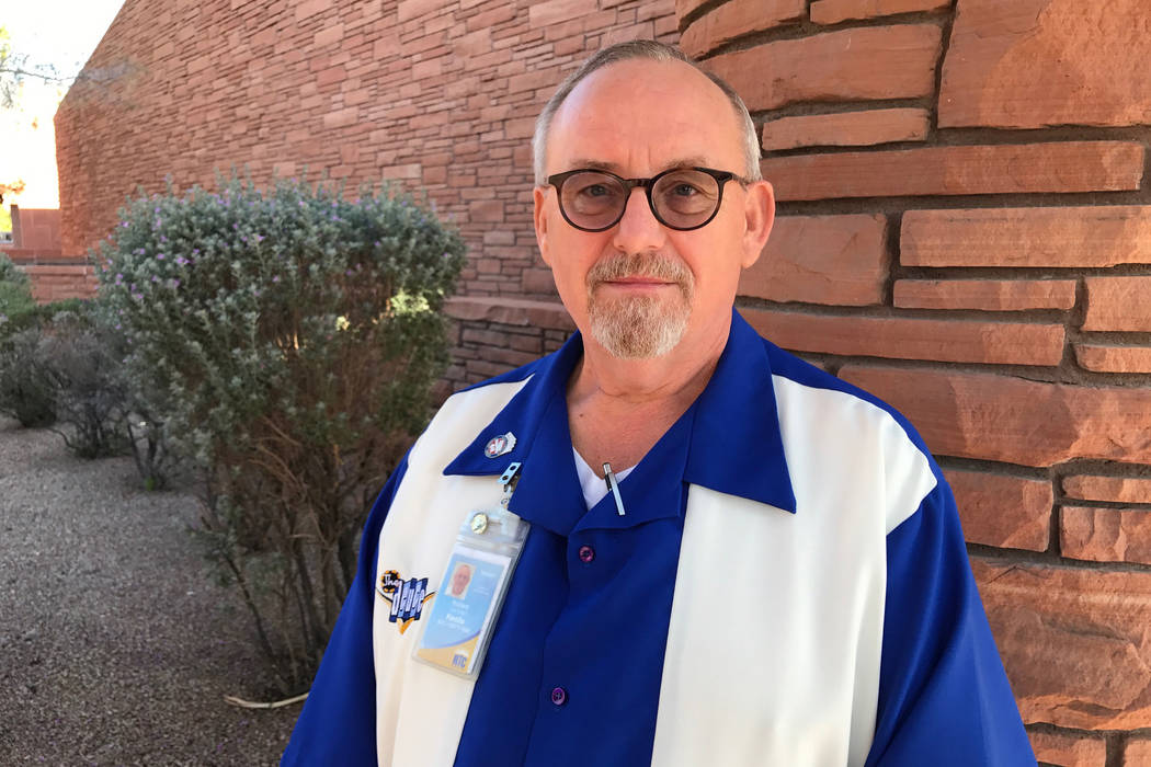 Bus driver Richard Kuna of Las Vegas was recognized Thursday for helping concertgoers flee from the Oct. 1 shooting. Art Marroquin Las Vegas Review-Journal