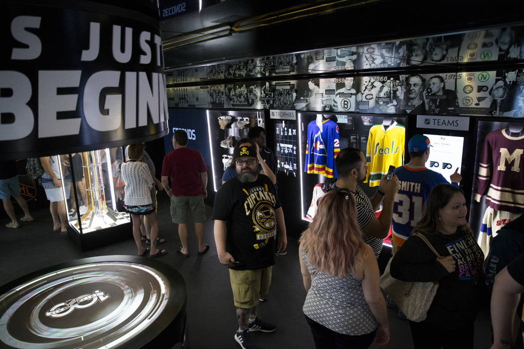The Mobile NHL Museum in the NHL Centennial Fan Arena at the Fremont Street Experience in Las Vegas, Saturday, Oct. 14, 2017. Erik Verduzco Las Vegas Review-Journal @Erik_Verduzco