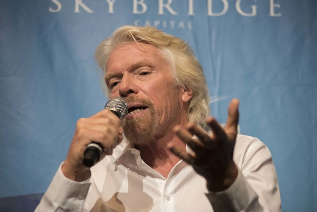 Virgin Group founder Sir Richard Branson. (Martin S. Fuentes/Las Vegas Review-Journal)