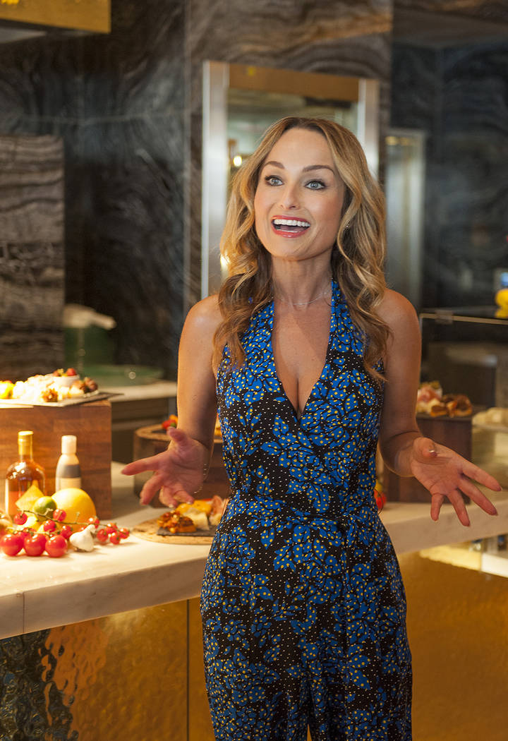 Celebrity chef Giada De Laurentiis announces plans to open her second restaurant in Las Vegas. The new restaurant, Pronto, is planned to open at Caesars Palace in 2018. (Mark Damon/Las Vegas News  ...