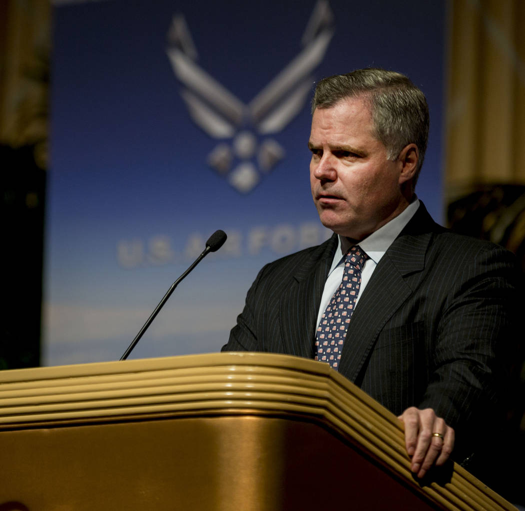 "The Mirage and Chairman and CEO Jim Murren welcomes guests  to dinner during the MGM Resorts International annual ""Salute to the Troops"" event for ""wounded warriors,"" at The Mirage hotel-casino in ..."