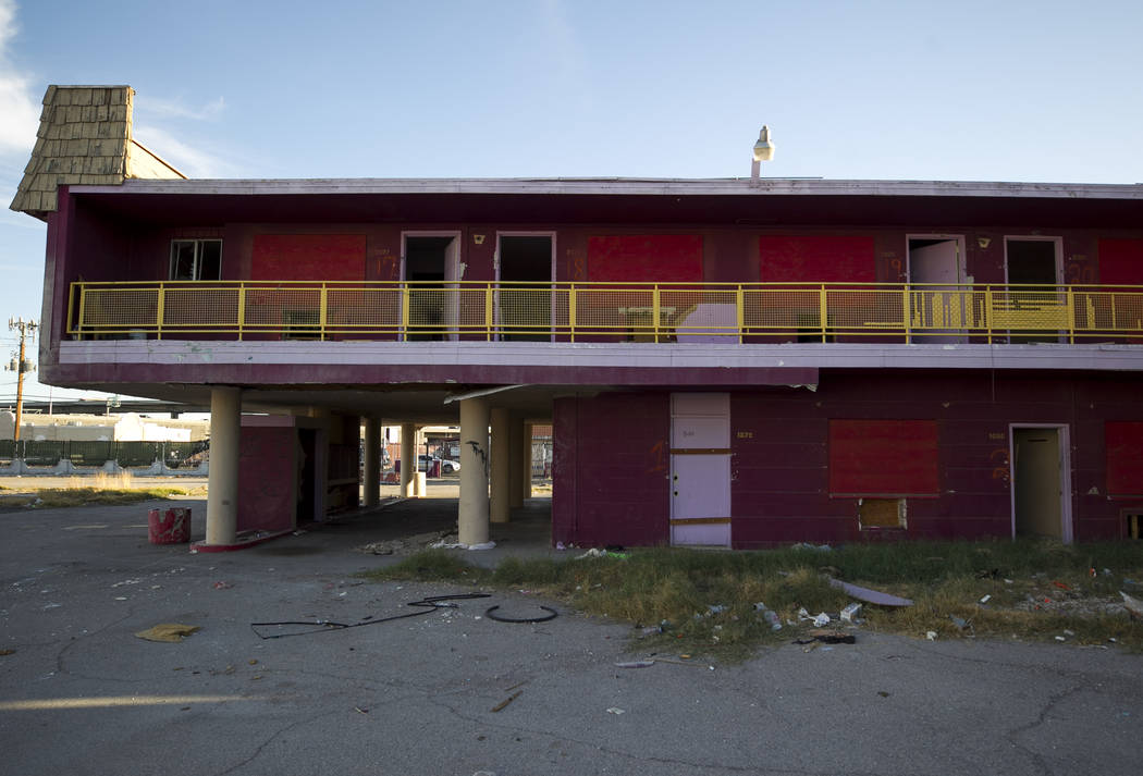 The shuttered Moulin Rouge, the first desegregated hotel-casino listed on the United States National Register of Historic Places, on Friday, Sept. 29, 2017, in Las Vegas. Richard Brian Las Vegas R ...