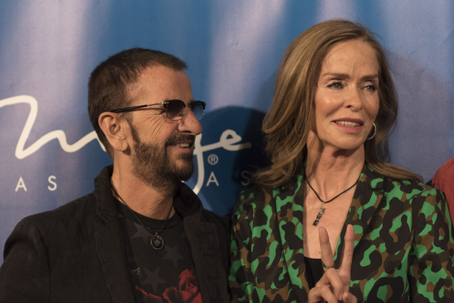 Drummer For The Beatles Ringo Starr Left And Wife Barbara Bach Right Pose During A Red Carpet Event To Celebrate The 10th Anniversary Of Cirque Du Soleil S The Beatles Love At The