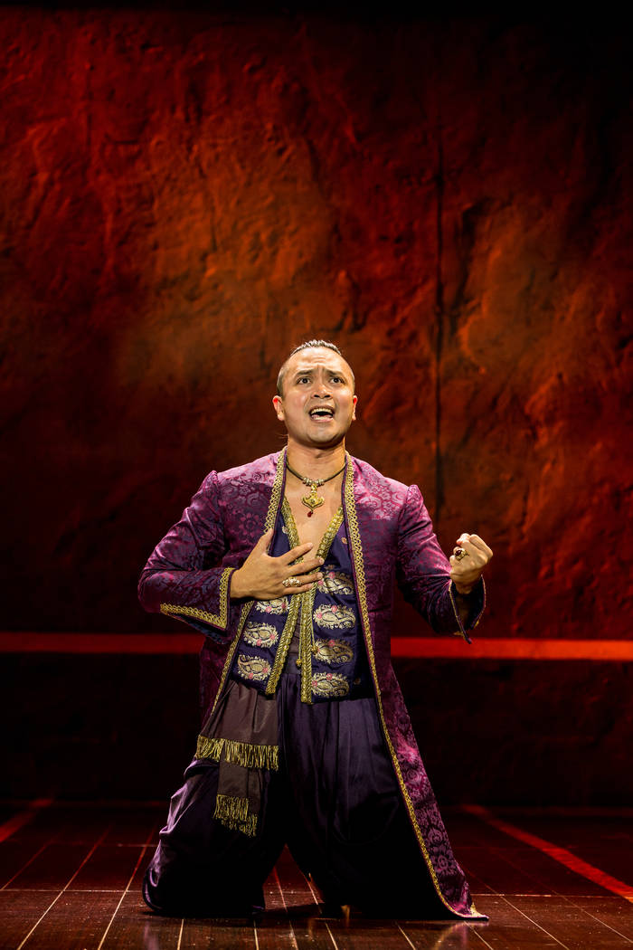 Jose Llana as The King in Rodgers & Hammerstein's The King and I.  Matthew Murphy