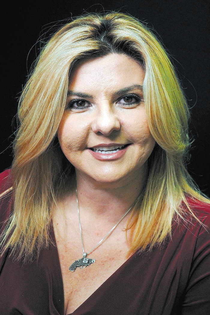 Michele Fiore, a Republican candidate for the 3rd Congressional District, is photographed at the Las Vegas Review-Journal offices on Wednesday, April 13, 2016. Jerry Henkel/Las Vegas Review-Journal
