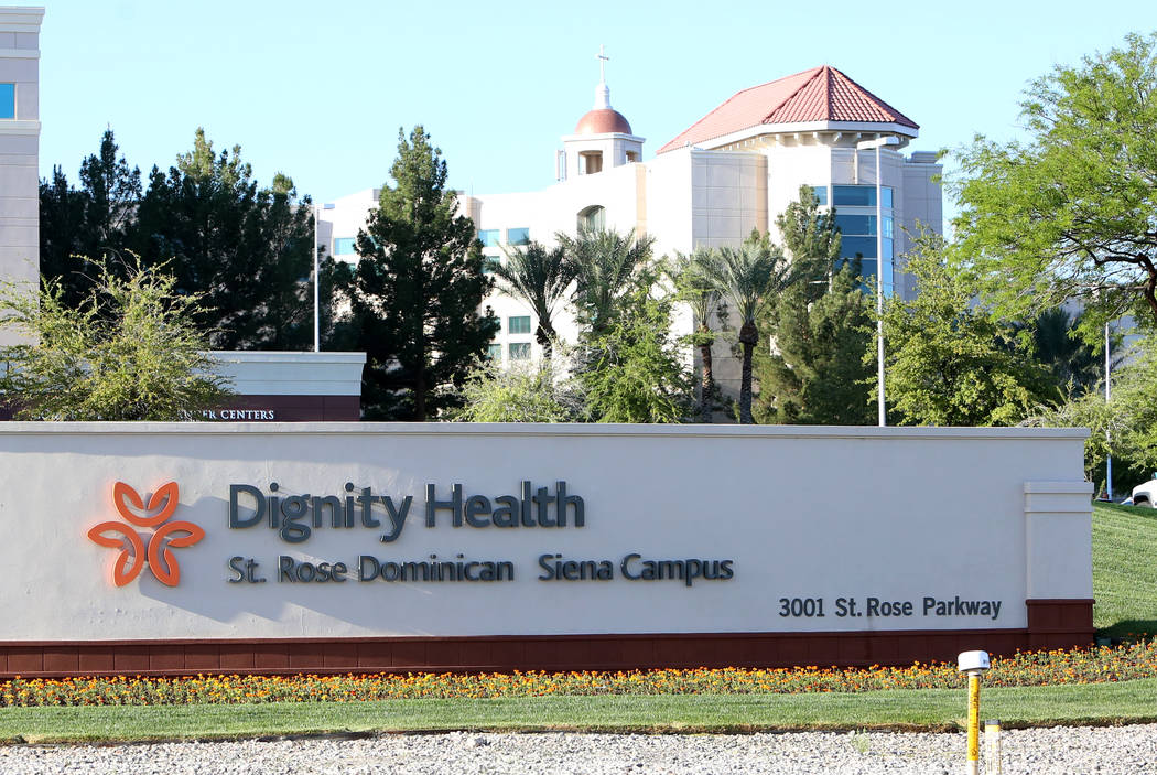 Dignity Health St. Rose Dominican Siena Campus on Thursday, April 13, 2017, in Henderson. Bizuayehu Tesfaye Las Vegas Review-Journal @bizutesfaye