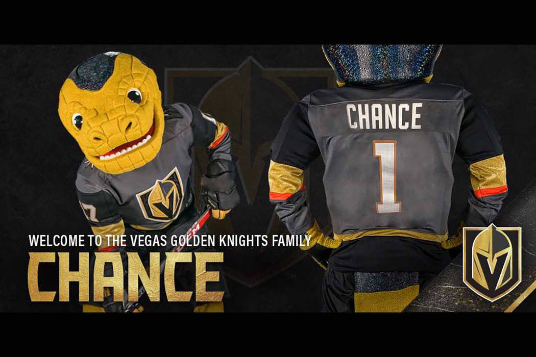 Vegas Golden Knights reveal Chance as team s mascot  5514b7bc7