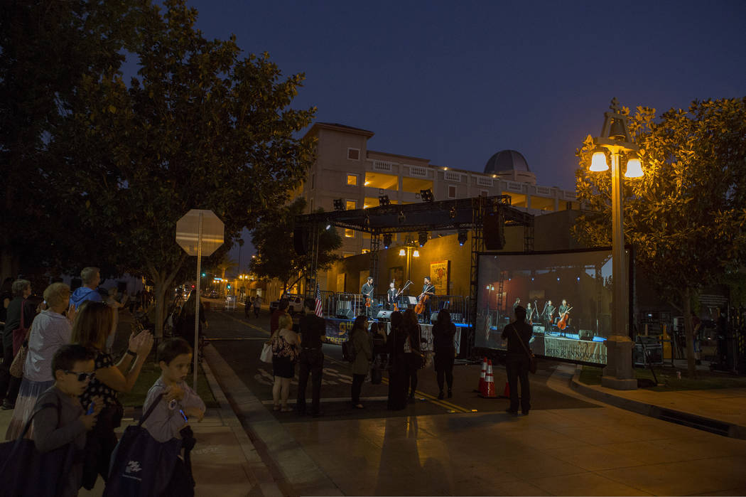Thousands of patrons made their way to downtown Riverside, California for Long Night of Arts & Innovation on Thursday, Oct. 12, 2017. Long Night of Arts & Innovation was the largest event  ...