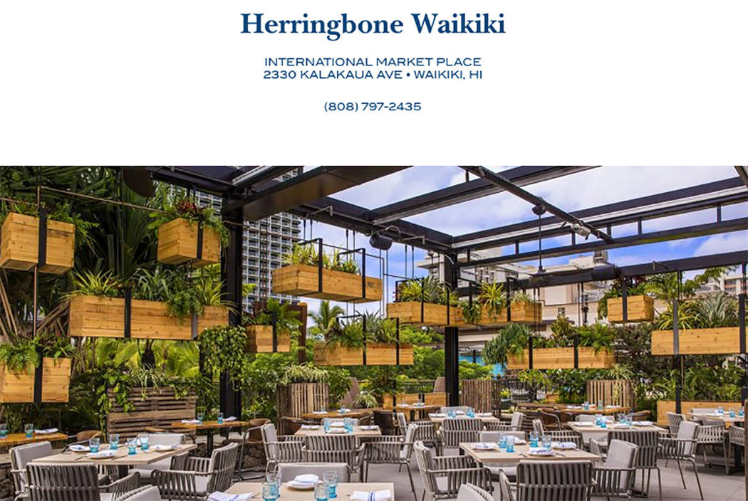 Herringbone Waikiki restaurant in Hawaii (screengrab from  herringboneeats.com)