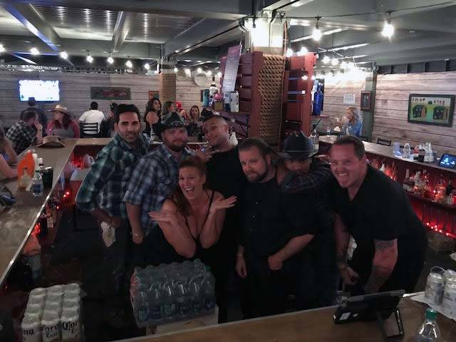 This was sat night of Route 91. House of Blues Bar... this random group of strangers spent 3 days, 16 hours a day together and are now forever entwined because of the tragedy, but they are my fami ...