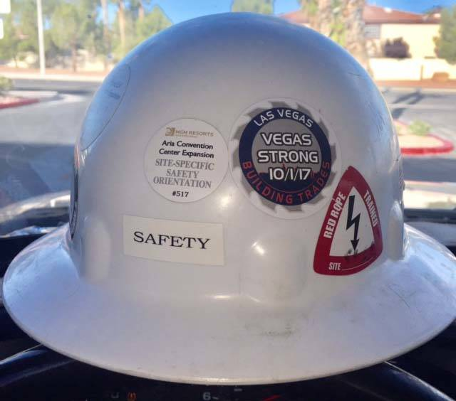 Here are some Hard Hat stickers I had made for our Construction workers in the LV valley. I have been handing them out at many jobsites. The workers love them and Its our way to show support to th ...
