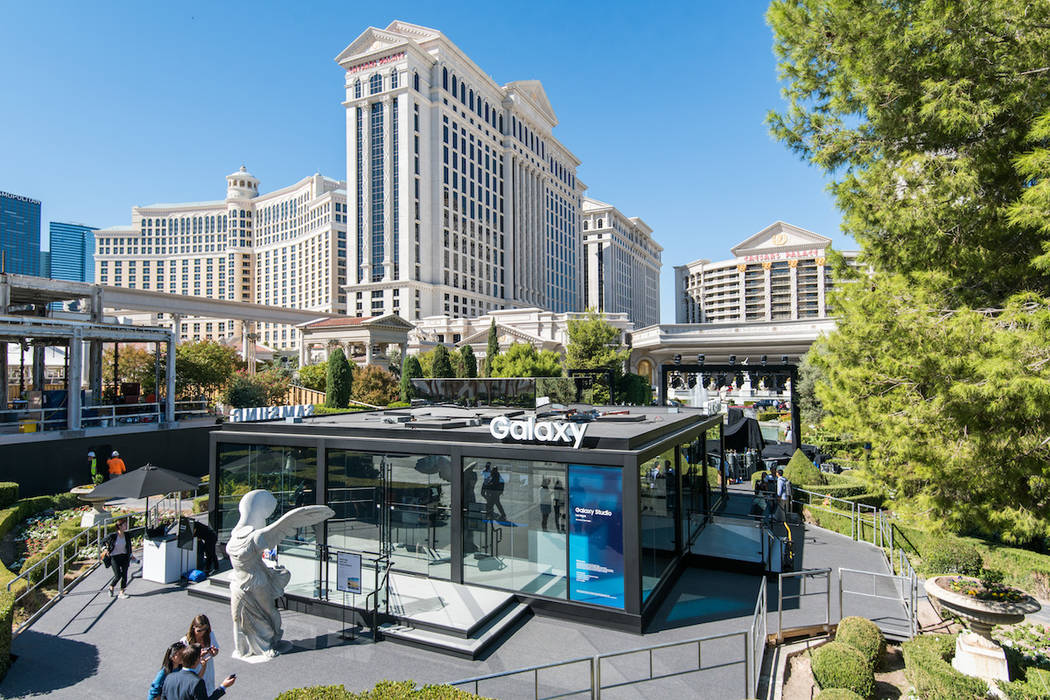 The Samsung pop-up store at Caesars Palace on the Las Vegas Strip. (Courtesy Samsung)