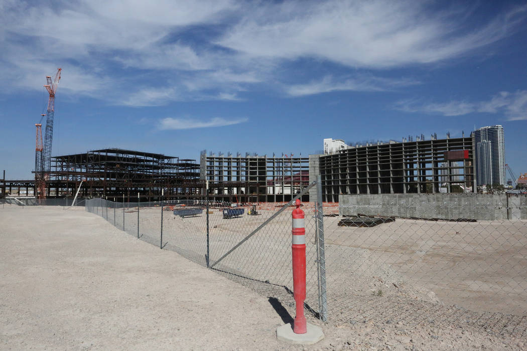 Resorts World Las Vegas initiate development of the 3,000-room hotel-casino project located on the 87 acres of Las Vegas Boulevard South formerly occupied by the Stardust on Monday Oct. 16, 2017.  ...