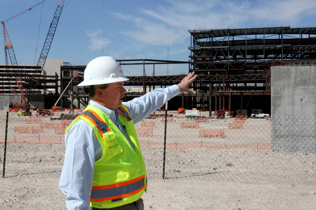 President of Resorts World Las Vegas Edward Farrell explains the layout of the new 3,000-room hotel-casino being built on Las Vegas Boulevard South on 87 acres formerly occupied by the Stardust on ...