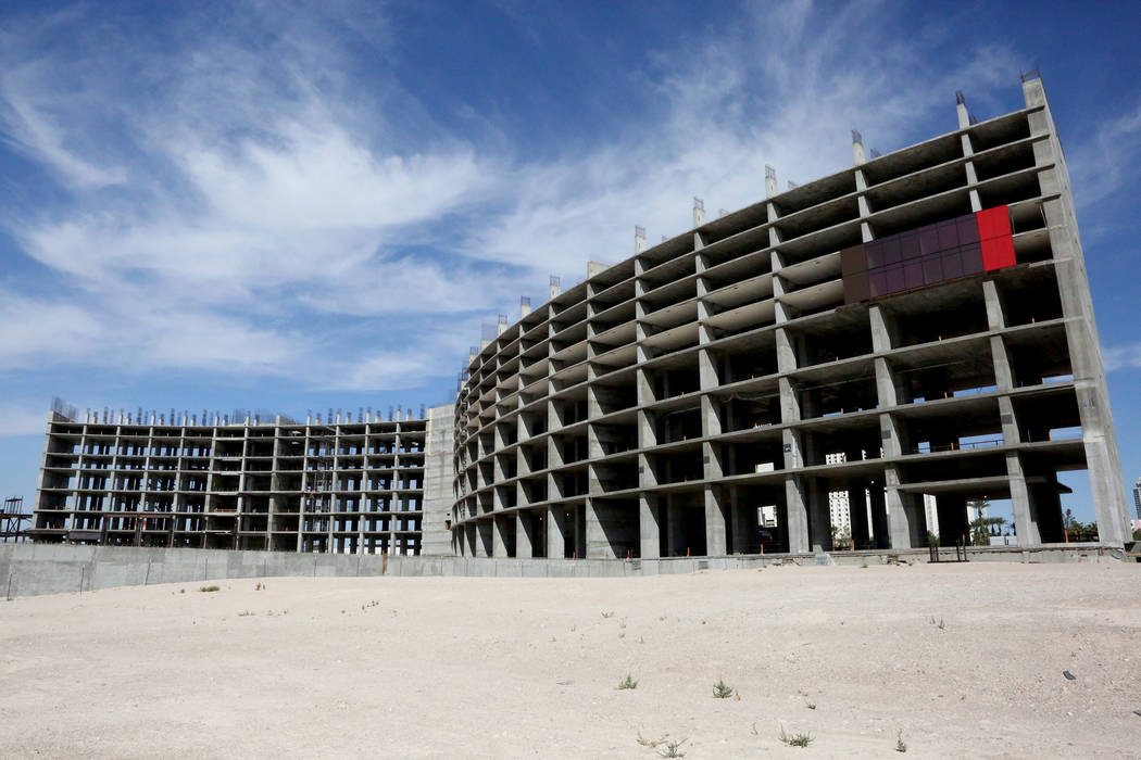 The two main towers of the Resorts World Las Vegas project will hold 3,000-rooms of the hotel-casino development located on the 87 acres of Las Vegas Boulevard South formerly occupied by the Stard ...