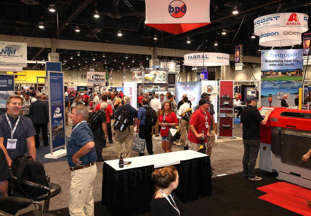 Expo-goers wander around during the 2017 MetalCon Expo at the Las Vegas Convention Center Wednesday, Oct. 18, 2017. Bizuayehu Tesfaye Las Vegas Review-Journal @bizutesfaye