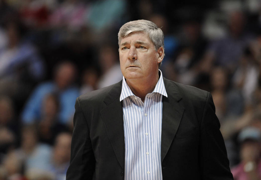 FILE - In this Aug. 29, 2015, file photo, New York Liberty coach Bill Laimbeer watches during the team's WNBA basketball game against the Connecticut Sun in Uncasville, Conn. Laimbeer will be the  ...