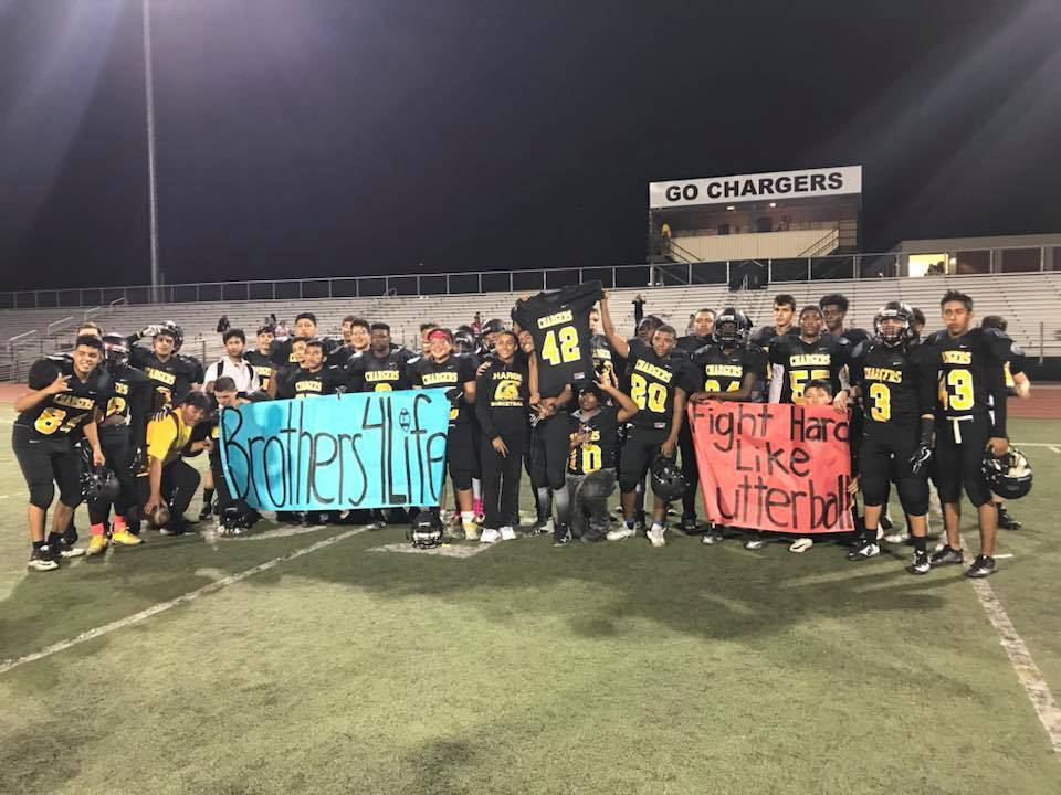 Ronald's teammates showed up in full force to show support for their injured teammate and his brother. Coach Ricky Pickens said the event affected every player on the team. (Yeimi Hernandez)