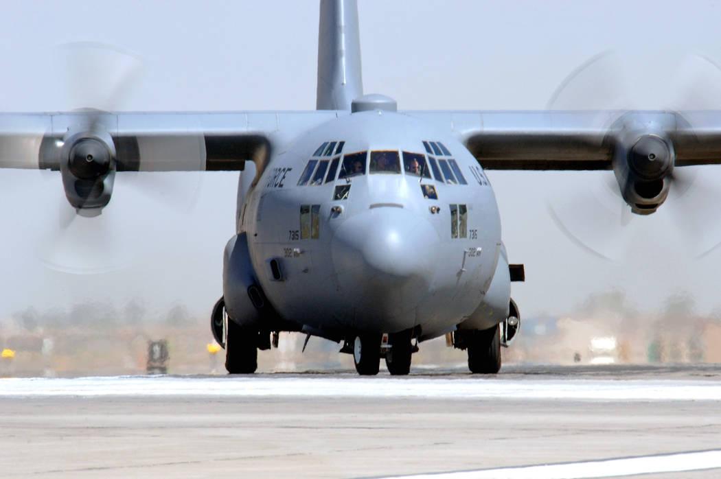 A C-130 plane. (U.S. Air Force photo/Staff Sgt. Tony R. Tolley)