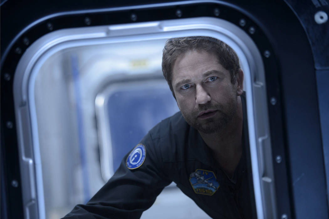 "Caption: GERARD BUTLER as Jake Lawson in Warner Bros. Pictures' and Skydance's suspense thriller ""Geostorm,"" a Warner Bros. Pictures release. Ben Rothstein"