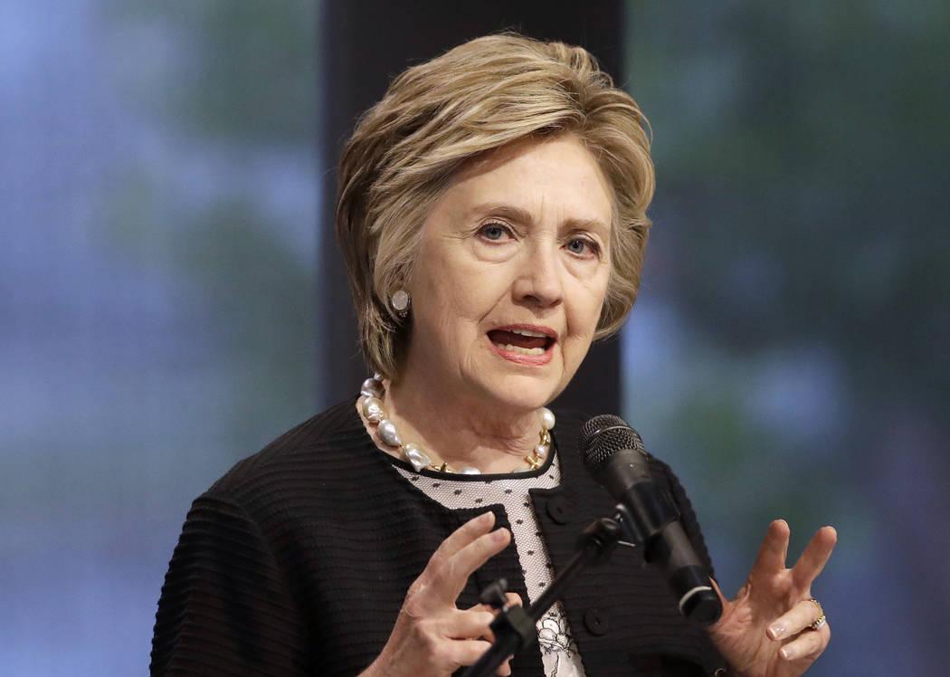 Former Secretary of State Hillary Clinton. (AP Photo/Patrick Semansky, File)