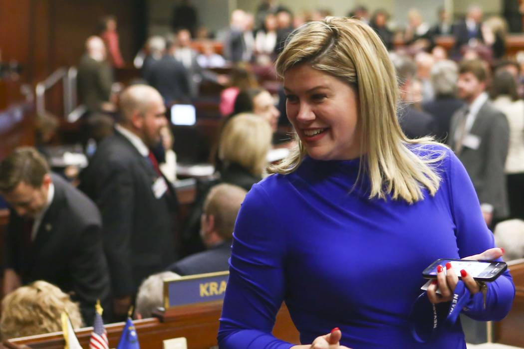 State Sen. Patricia Farley. (Chase Stevens/Las Vegas Review-Journal) @csstevensphoto