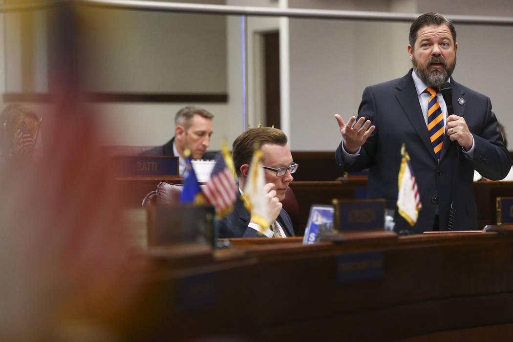 Senate Minority Leader Michael Roberson, R-Henderson. Chase Stevens Las Vegas Review-Journal @csstevensphoto