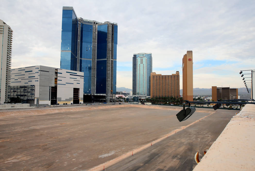 The construction site where ex-NBA player Jackie Robinson has proposed a big expansion for his arena and hotel project at the north lot on Las Vegas Boulevard, between SLS and Fontainebleau, Wedne ...