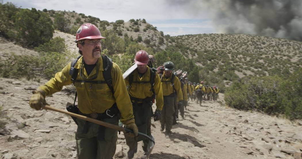 """Supe"" Eric Marsh (Josh Brolin) with his crew in Columbia Pictures' ""Only the Brave."" Sony Pictures"