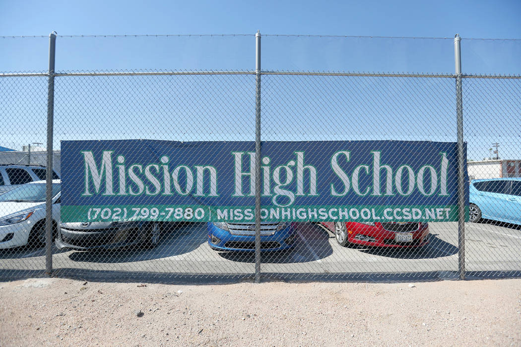 Mission High School, the districtճ first school dedicated solely to helping students in recovery, in Las Vegas, Thursday, Oct. 19, 2017.  Elizabeth Brumley Las Vegas Review-Journal @EliPagePhoto