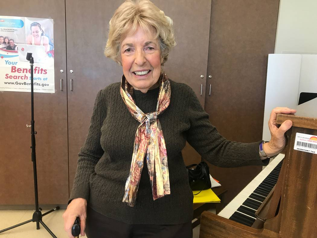Good Times director and pianist Rose Hyatt poses for a portrait on Oct. 13, 2017 at the Howard Lieburn Senior Center, 6230 Garwood Ave. (Kailyn Brown/View) @KailynHype