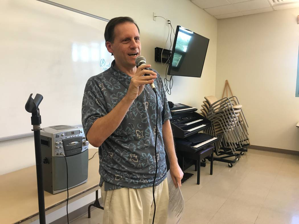 Good Times member Jerry Nativo leads a solo during a rehearsal on Oct. 13, 2017 at the Howard Lieburn Senior Center, 6230 Garwood Ave. (Kailyn Brown/View) @KailynHype