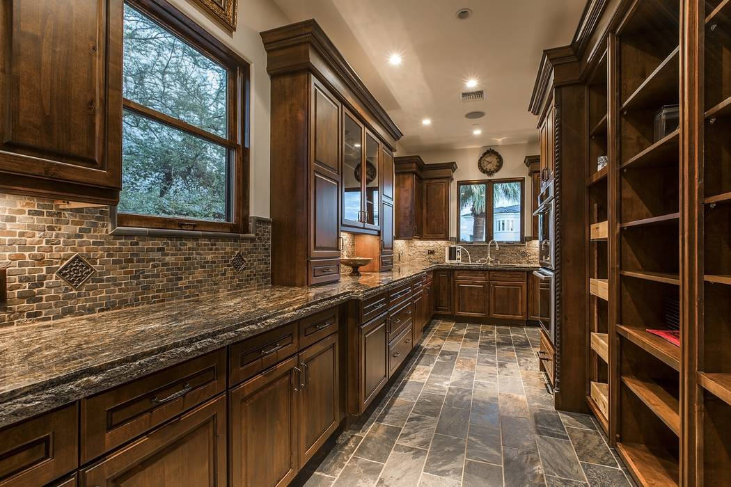 The kitchen has a butler's pantry. (Team Carver, Berkshire Hathaway Home Services)
