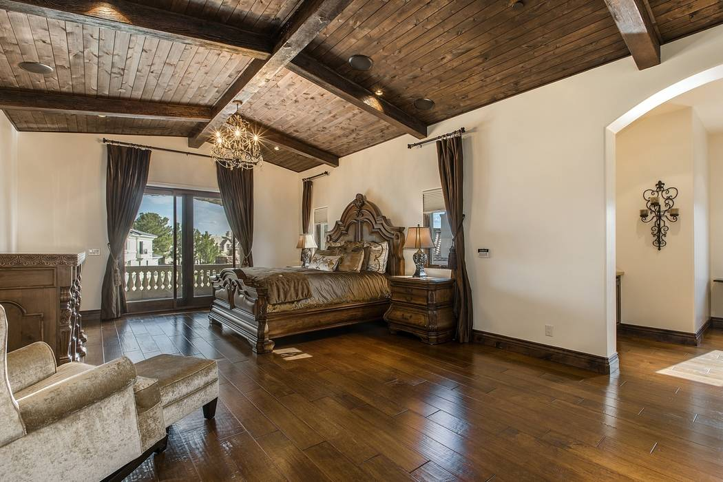 The master bedroom is upstairs. (Team Carver, Berkshire Hathaway Home Services)