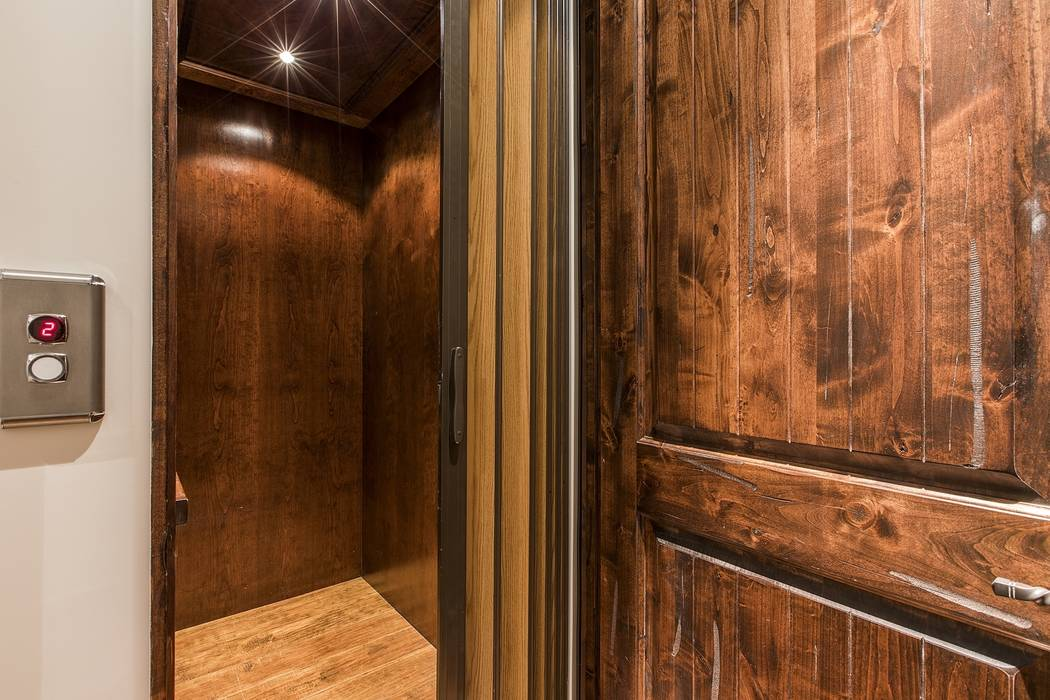 An elevator connects the home's two levels. (Team Carver, Berkshire Hathaway Home Services)