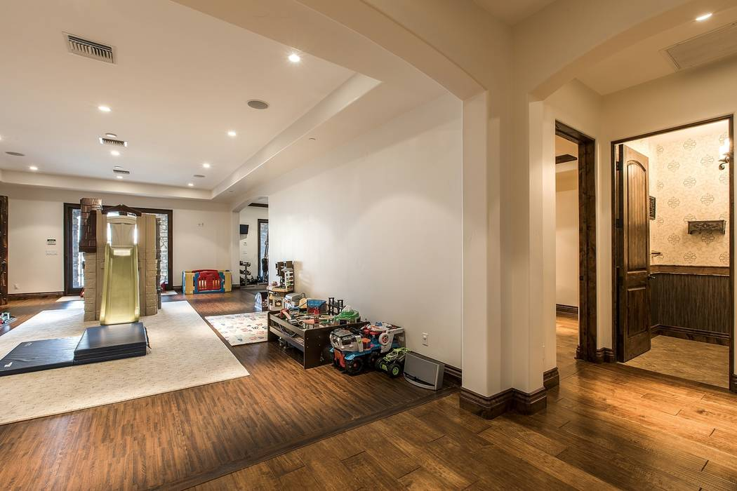 The family room. (Team Carver, Berkshire Hathaway Home Services)