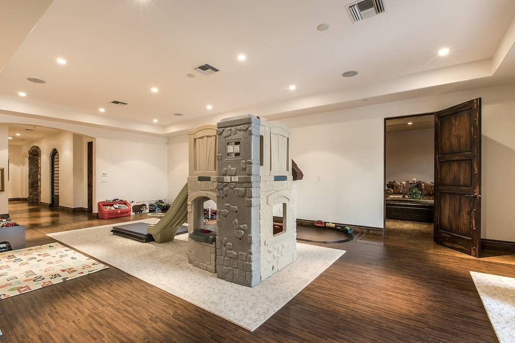 The family room is large enough for tons of toys. (Team Carver, Berkshire Hathaway Home Services)
