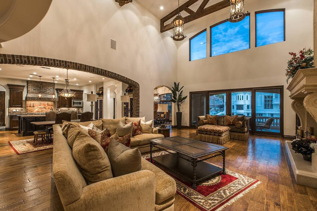 The living room. (Team Carver, Berkshire Hathaway Home Services)