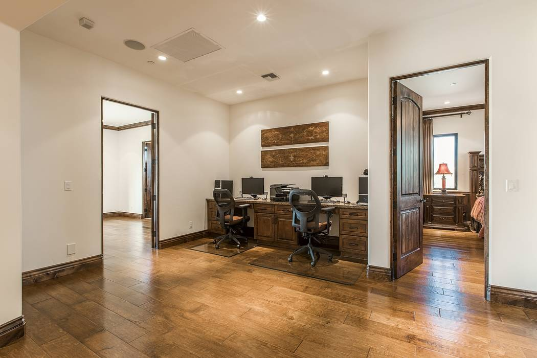 An upstairs loft has been made into an office. (Team Carver, Berkshire Hathaway Home Services)
