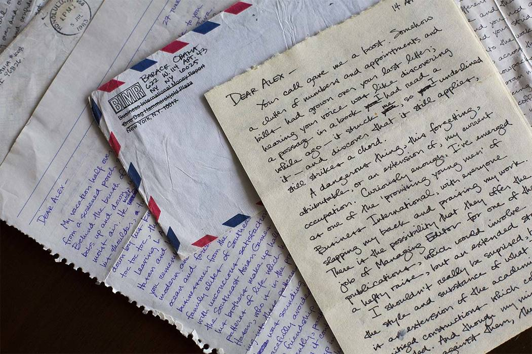 This image provided by Emory University shows letters sent by future President Barack Obama to his college girlfriend Alexandra McNear and held by Emory University's Stuart A. Rose Manuscript, Arc ...